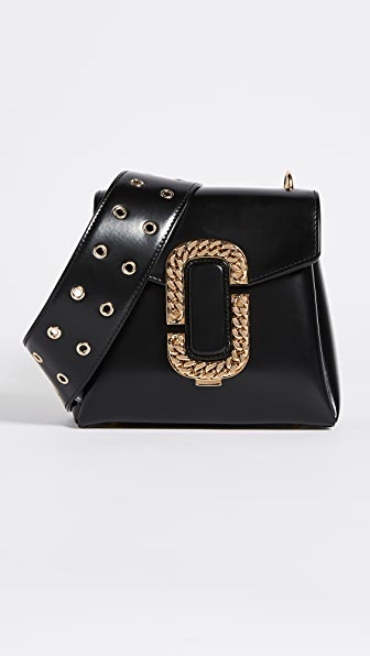 Marc Jacobs Small St Marc Shoulder Bag - Black