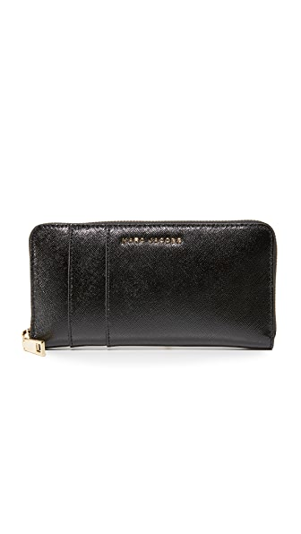 Marc Jacobs Standard Continental Wallet - Black/Berry