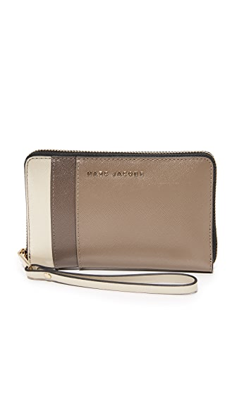 Marc Jacobs Zip Phone Wristlet - French Grey Multi