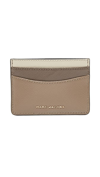 Marc Jacobs Card Case - French Grey Multi