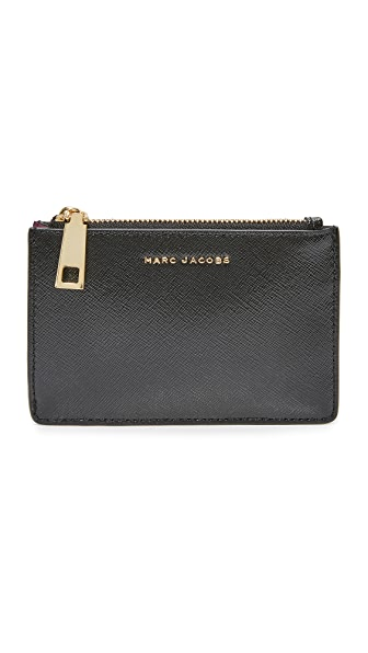 Marc Jacobs Top Zip Multi Wallet - Black/Berry