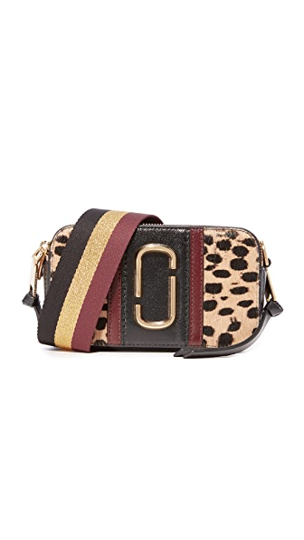 Marc Jacobs Leopard Haircalf Snapshot Bag - Black Multi
