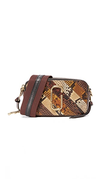 Marc Jacobs Snake Patchwork Snapshot Camera Bag - Tan Multi