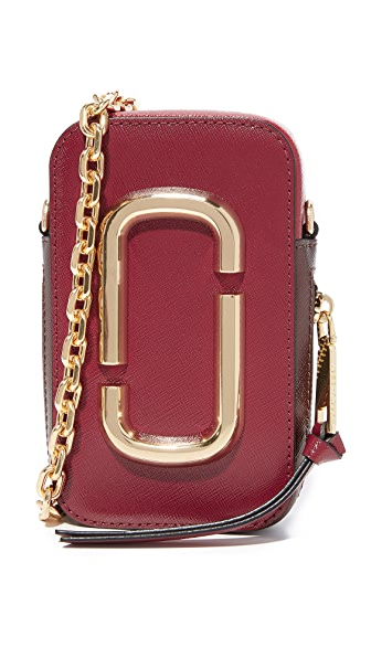 Marc Jacobs Hot Shot Bag - Deep Maroon Multi