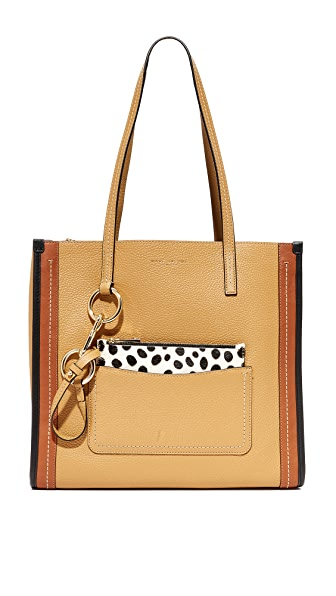 Marc Jacobs The Grind East / West Shopper Tote - Beige Multi