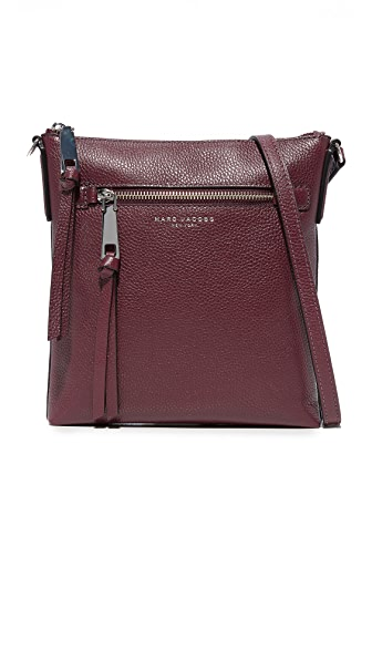 Marc Jacobs Recruit North / South Cross Body Bag - Blackberry