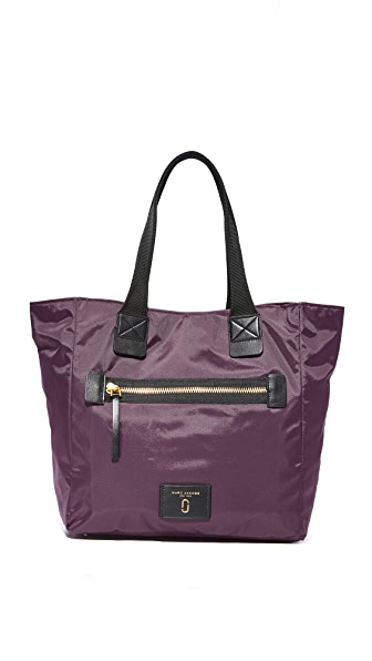 Marc Jacobs Nylon Biker North / South Tote - Dark Violet