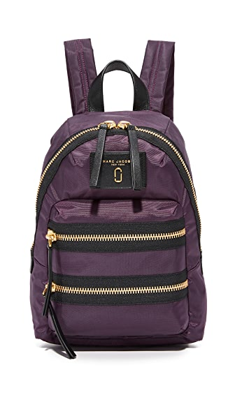 Marc Jacobs Nylon Biker Mini Backpack In Dark Violet