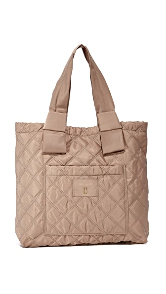 Marc Jacobs Nylon Knot Tote In French Grey