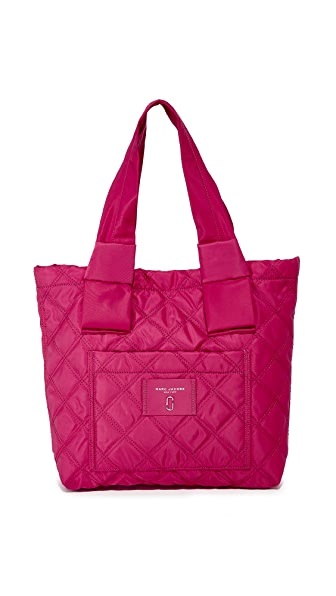 Marc Jacobs Nylon Knot Small Tote In Raspberry