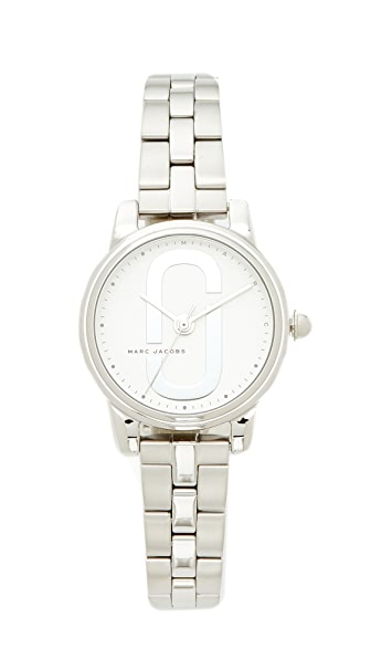 Marc Jacobs Small Corie Watch - Silver/White