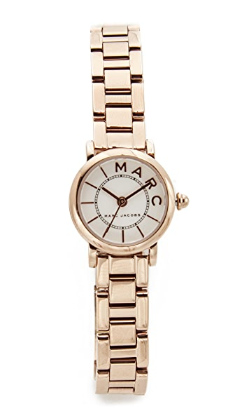 Marc Jacobs Small Roxy Watch In Rose Gold/White
