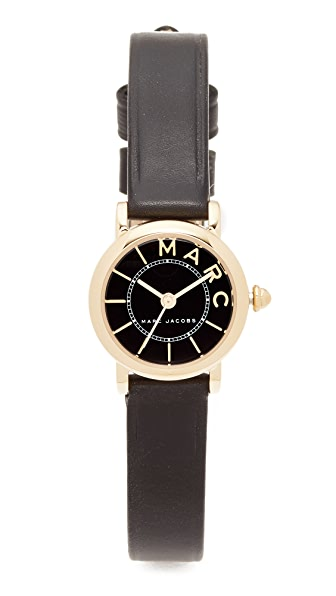 Marc Jacobs Small Roxy Leather Watch - Gold/Black