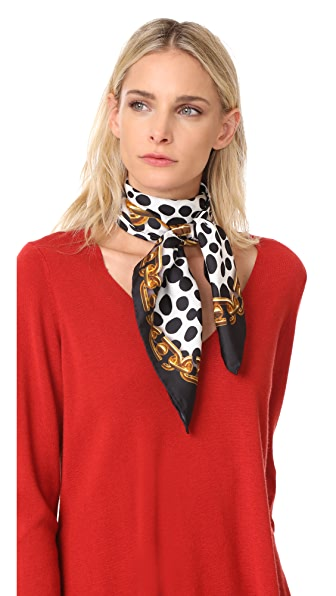 Marc Jacobs Animal & Chains Scarf In Black Multi