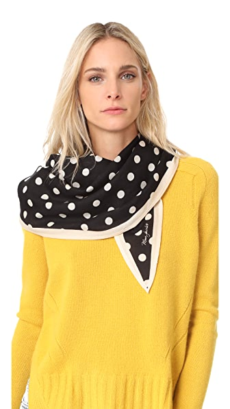 Marc Jacobs Polka Dot Diamond Stole Scarf - Black Multi