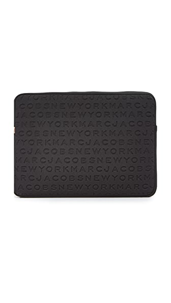 "Marc Jacobs 15"" Logo Neoprene Computer Case In Black"