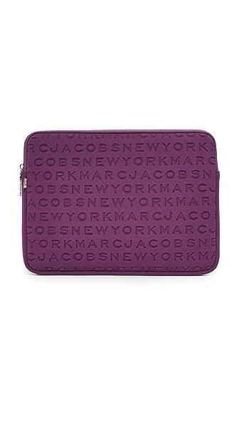 "Marc Jacobs 13"" Neoprene Logo Computer Case - Dark Violet"