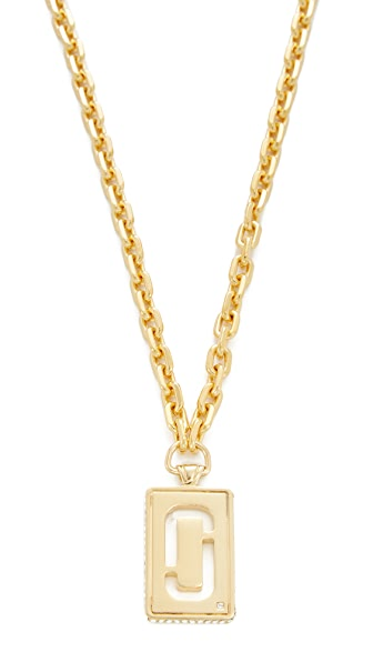 Marc Jacobs Respect J Marc Pendant Necklace In Gold