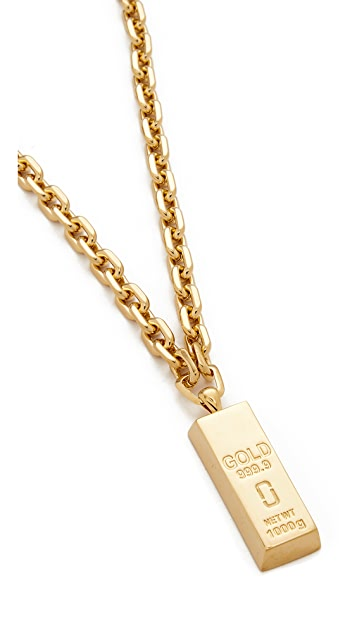 Marc Jacobs Respect Bar Necklace