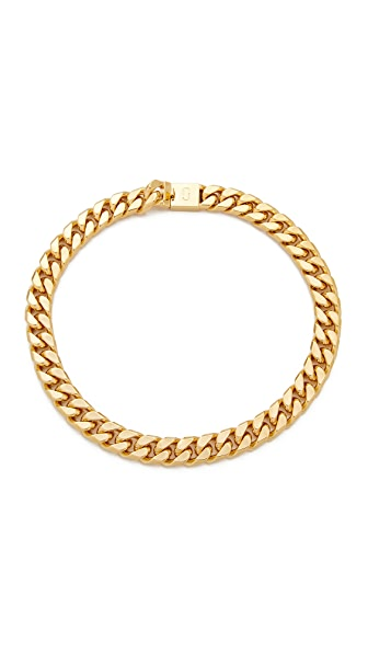 Marc Jacobs Respect Double J Short Necklace In Gold