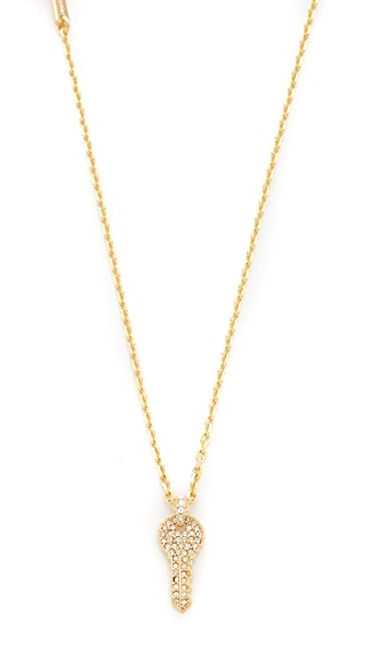 Marc Jacobs Respect Short Key Necklace - Gold