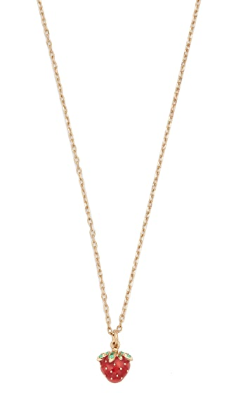 Marc Jacobs Strawberry Pendant Necklace In Gold