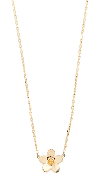 Marc Jacobs Daisy Pendant Necklace In Gold