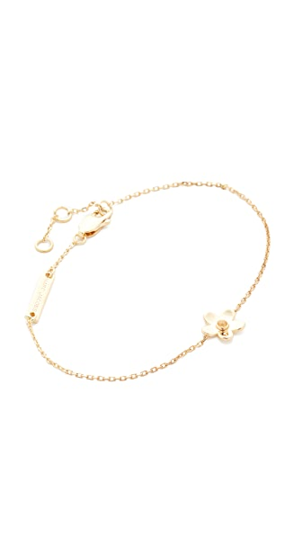 Marc Jacobs Daisy Chain Bracelet In Gold