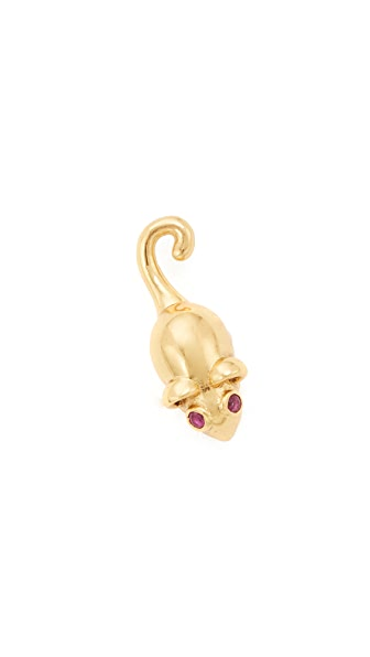 Marc Jacobs Mouse Stud Earring In Gold