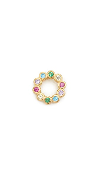 Marc Jacobs Rainbow Ring Stud Earring In Gold