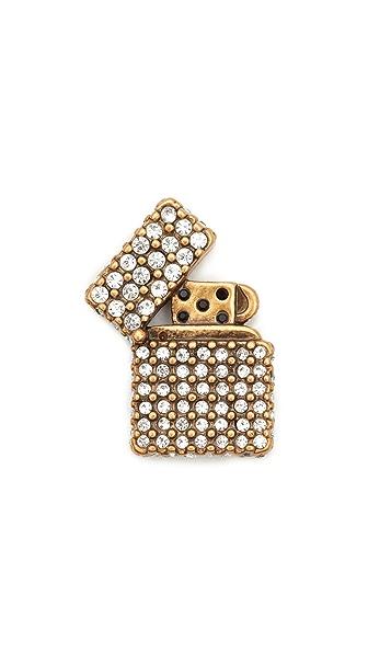 Marc Jacobs Strass Lighter Pin