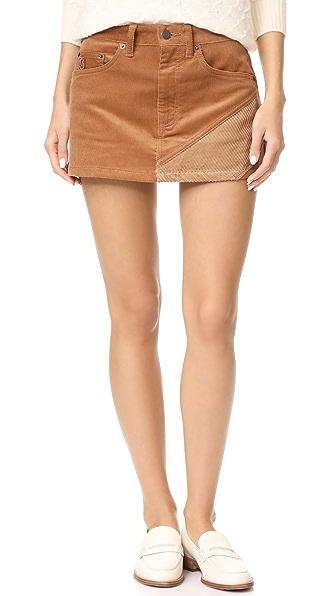 Marc Jacobs Combo Miniskirt - Tan