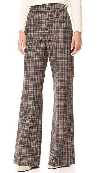 Marc Jacobs Wide Leg Pants - Camel Multi