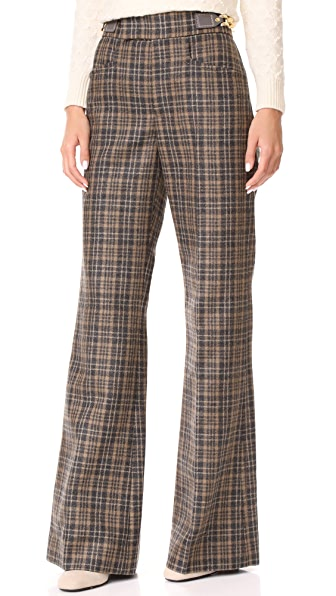 Marc Jacobs Wide Leg Pants In Camel Multi