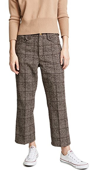 Marc Jacobs Cropped Pants In Brown Multi