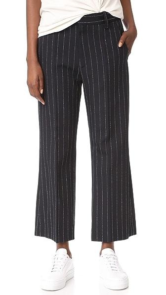 Marc Jacobs Stripe Cropped Pants - Black