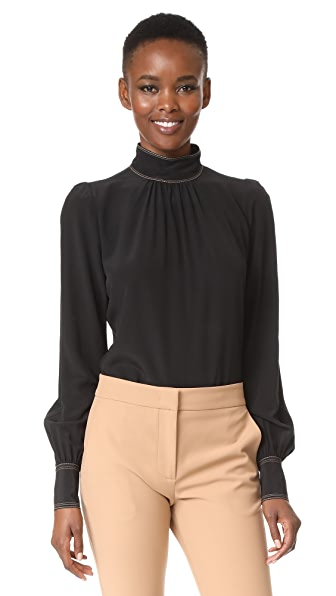 Marc Jacobs Bishop Sleeve Blouse - Black