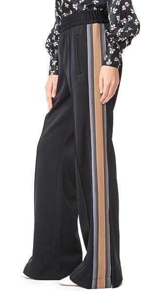Marc Jacobs Runway Track Pants In Black Multi