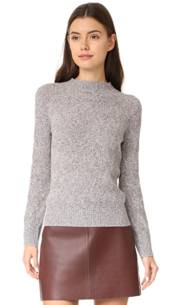 Marc Jacobs Mock Neck Sweater - Grey Melange Multi