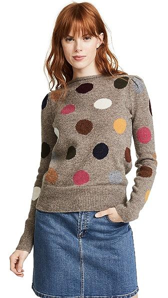 Marc Jacobs Polka Dot Sweater In Multi