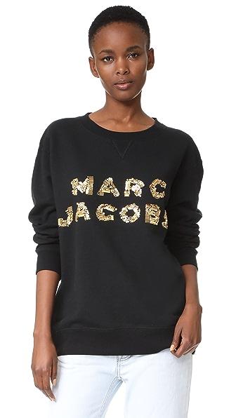 Marc Jacobs Oversized Logo Sweatshirt In Black