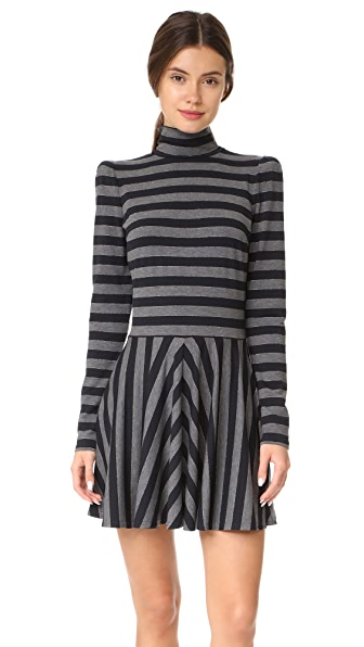 Marc Jacobs Mock Neck Dress - Grey Multi
