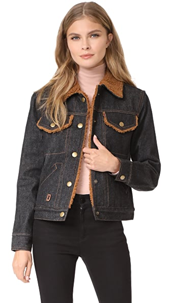 Marc Jacobs Cropped Denim Jacket at Shopbop
