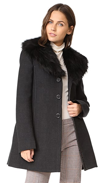 Marc Jacobs Faux Fur Collar Coat at Shopbop