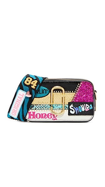 Marc Jacobs Kaia Snapshot Bag - Black Multi
