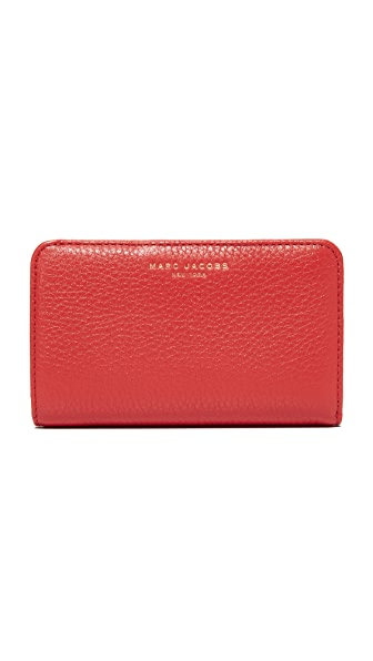 Marc Jacobs Gotham Compact Wallet - Lava Red