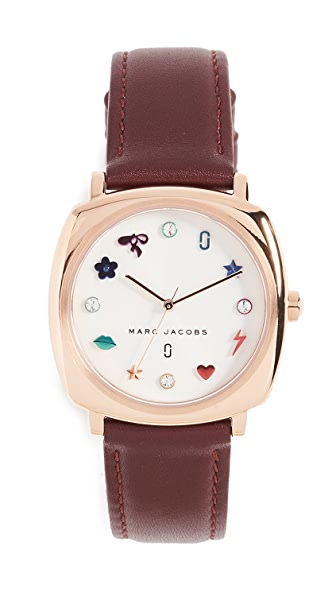 Marc Jacobs Mandy Watch, 33mm In Burgundy