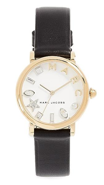 Marc Jacobs Roxy Watch, 29mm In Black/Gold