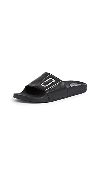 Marc Jacobs Cooper Sport Slides In Black