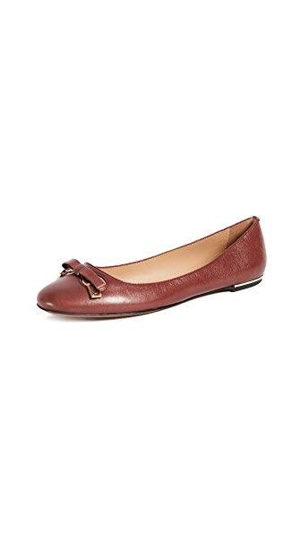 Marc Jacobs Sophie Round Toe Status Ballerina Flats In Bordeaux